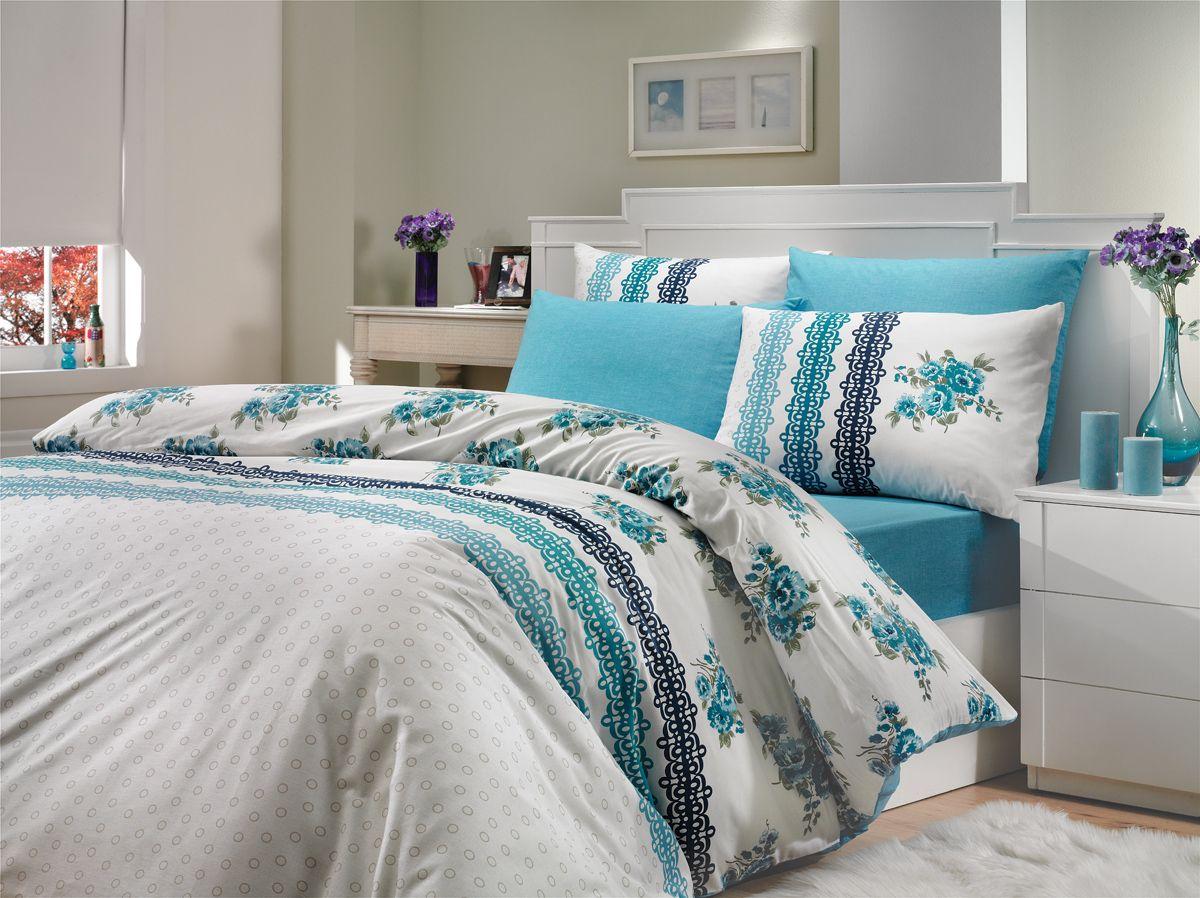 Комплект белья Hobby Home Collection Camila, 2-спальный, наволочки 70x70, цвет: синийRC-100BWCКомплект белья Hobby Home Collection состоит из простыни, пододеяльника и 4 наволочек. Белье выполнено из ранфорса - это ткань из 100% натурального хлопка, которая легко стирается, практичнее льна, подстраивается под температуру воздуха - зимой на таком белье тепло, летом - прохладно. Мягкость и нежность материала создает чувство комфорта и защищенности. У хлопка хорошая проводимость тепла, поэтому постельное белье из него может надолго оставаться свежим. Постельное белье с оригинальными дизайнами станет отличным выбором для людей, стремящихся всегда быть стильными.