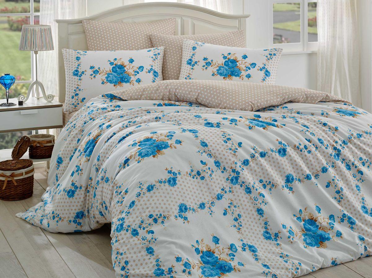 Комплект белья Hobby Home Collection Gloria, 1,5-спальный, наволочки 50x70, 70x70, цвет: синий391602Комплект белья Hobby Home Collection состоит из простыни, пододеяльника и 2 наволочек. Белье выполнено из ранфорса - это ткань из 100% натурального хлопка, которая легко стирается, практичнее льна, подстраивается под температуру воздуха - зимой на таком белье тепло, летом - прохладно. Мягкость и нежность материала создает чувство комфорта и защищенности. У хлопка хорошая проводимость тепла, поэтому постельное белье из него может надолго оставаться свежим. Постельное белье с оригинальными дизайнами станет отличным выбором для людей, стремящихся всегда быть стильными.