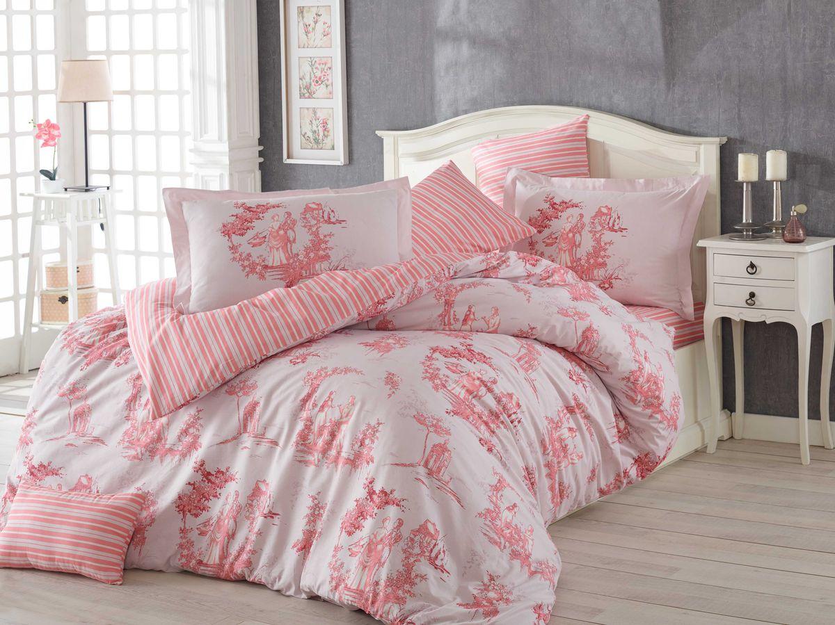 Комплект белья Hobby Home Collection Vanessa, евро, наволочки 50x70, 70x70, цвет: розовый68/5/3Комплект постельного белья Hobby Home Collection изготовлен из высококачественного поплина. Поплин - это ткань, изготавливаемая традиционным полотняным плетением из 100% хлопка, но из нитей разного калибра, за счет чего полотно получается с легким рубчиковым рельефом. По многим характеристикам ткань похожа на бязь, но на ощупь гораздо приятнее — более гладкая и мягкая. Поплин обладает лучшими свойствами ткани для постельного белья. Он плотный и в то же время мягкий на ощупь, износостойкий, немнущийся, гигроскопичный и неприхотливый в уходе, а после стирки практически не нуждается в глажке. Поплин обладает множеством преимуществ: - белье из него плотное, прочное и износостойкое; - не выцветает и не сминается; - не линяет и не деформируется (при стирке до 40°С); - натуральный хлопок в составе обеспечивает абсолютную гигиеничность постельного белья; - поплин хорошо вентилируется и впитывает влагу, отводя ее излишки от тела. По легенде этот материал впервые произвели во французской резиденции Папы Римского, городе Авиньон. За это ткань назвали поплином, что означает папский. С тех пор, вслед за Европой, полотно покорило весь мир, и на сегодня это самый востребованный материал для постельного белья. Постельное белье имеет 3D рисунок. Это объемный рисунок, который позволяет увидеть изображение более реальным, живым. 3D печать на постельном белье невозможна простым способом. Для достижения высокого качества применяется Digital textile printing (англ. Digital textile printing - прямая цифровая печать по текстилю) — способ нанесения изображения на ткань, предполагающий прямую реактивную печать. Сам вид такой печати обеспечивает долговечность нанесенного изображения. На ткань, наносится ультрачеткое и яркое 3D изображение, вследствие чего картинка выглядит очень реалистично. Просматриваются даже самые мелкие детали. Постельное белье из поплина способно не только создать идеальные ус