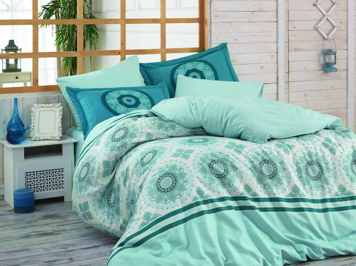 """Комплект белья Hobby Home Collection """"Silvana"""", 2-спальный, наволочки 50х70, 70х70, цвет: синий"""