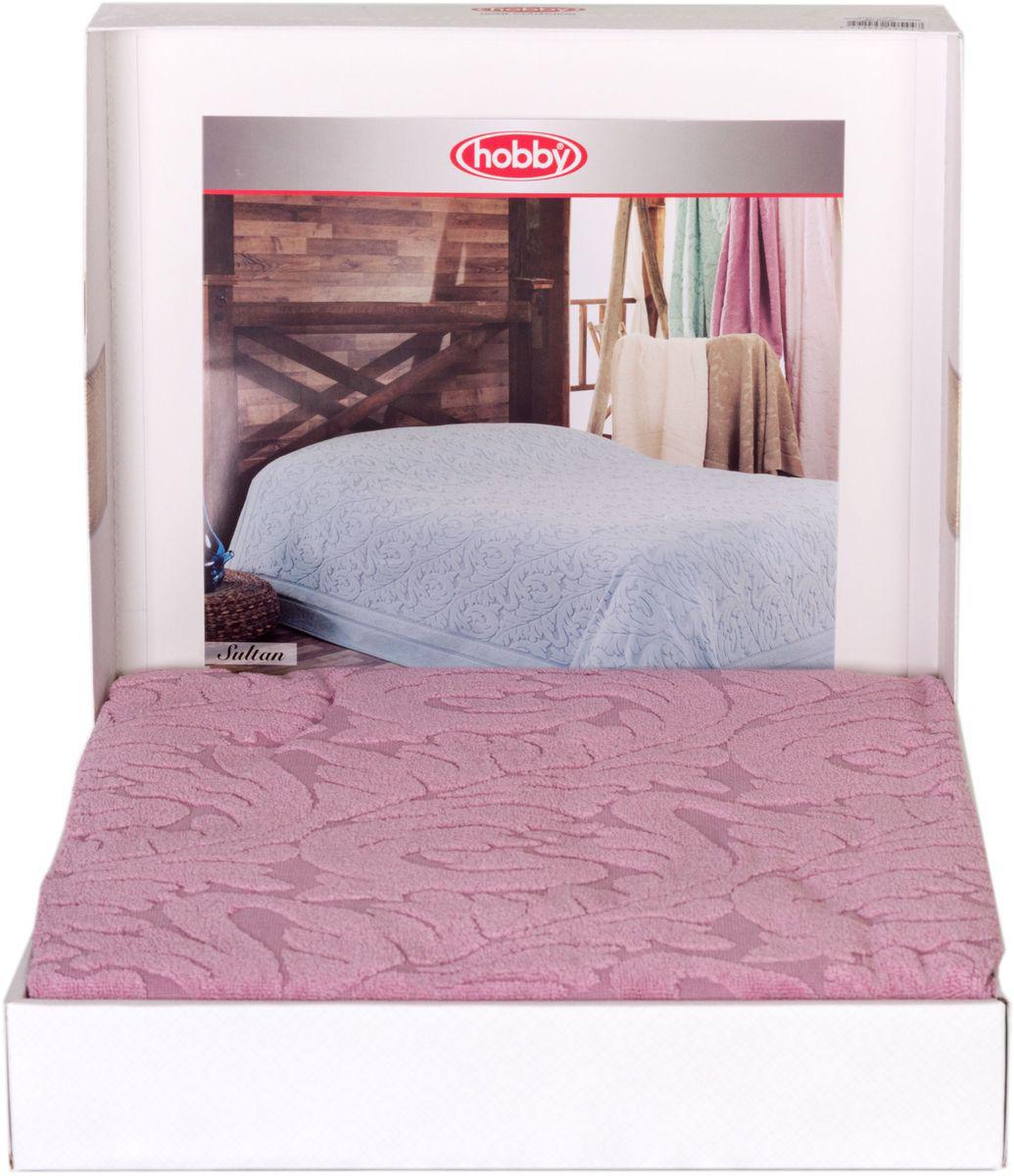 Покрывало Hobby Home Collection Sultan, цвет: розовый, 160 х 200 см68/5/4Шикарное покрывало Hobby Home Collection Sultan изготовлено из 100% хлопка высшей категории. Оно обладает замечательными дышащими свойствами и будет хорошо смотреться как на диване, так и на большой кровати. Данное покрывало можно также использовать в качестве одеяла.