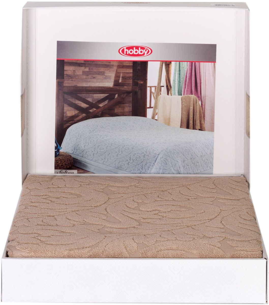 Покрывало Hobby Home Collection Sultan, цвет: бежевый, 200 х 220 смSC-FD421005Шикарное покрывало Hobby Home Collection Sultan изготовлено из 100% хлопка высшей категории. Оно обладает замечательными дышащими свойствами и будет хорошо смотреться как на диване, так и на большой кровати. Данное покрывало можно также использовать в качестве одеяла.