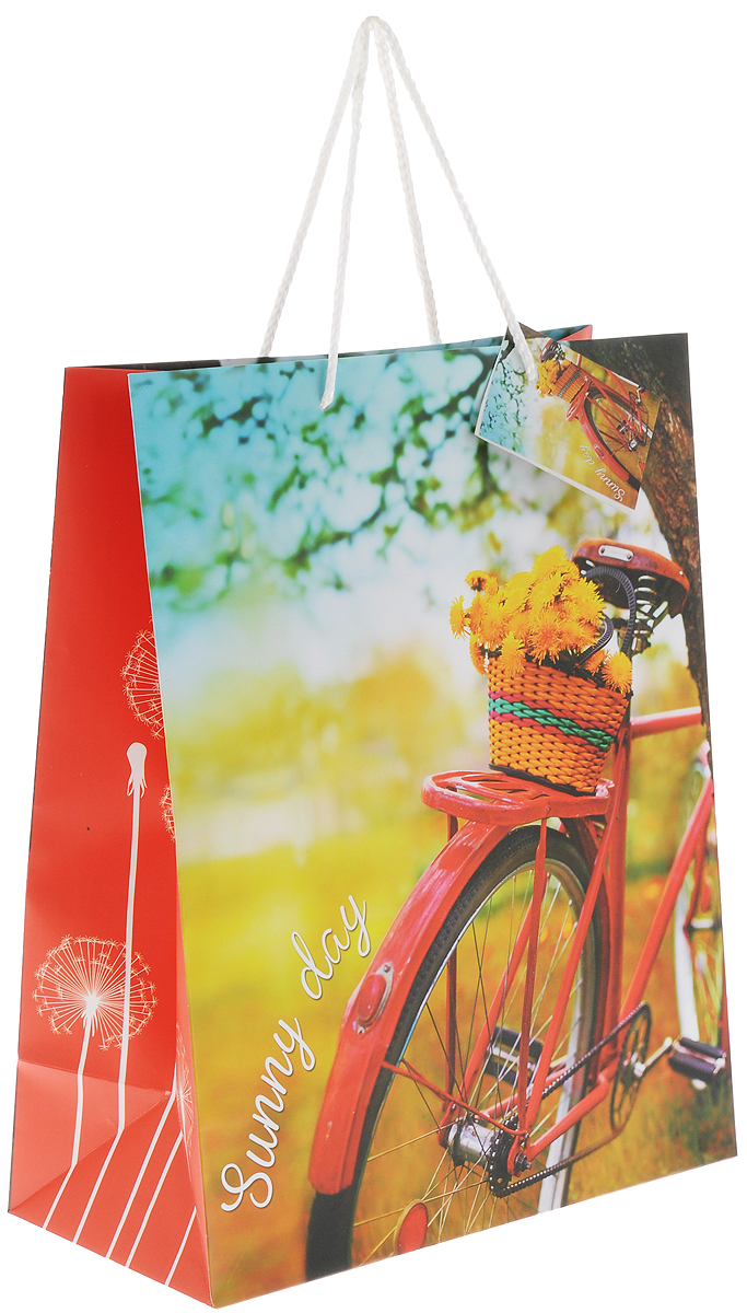 Пакет подарочный Magic Home Путешествуй!, цвет: желтый, красный, черный, 26 х 32,4 х 12,7 смRSP-202SПодарочный пакет Magic Home Путешествуй!, изготовленный из плотной бумаги, станет незаменимым дополнением к выбранному подарку. Для удобной переноски на пакете имеются две ручки из шнурков.Подарок, преподнесенный в оригинальной упаковке, всегда будет самым эффектным и запоминающимся. Окружите близких людей вниманием и заботой, вручив презент в нарядном, праздничном оформлении.