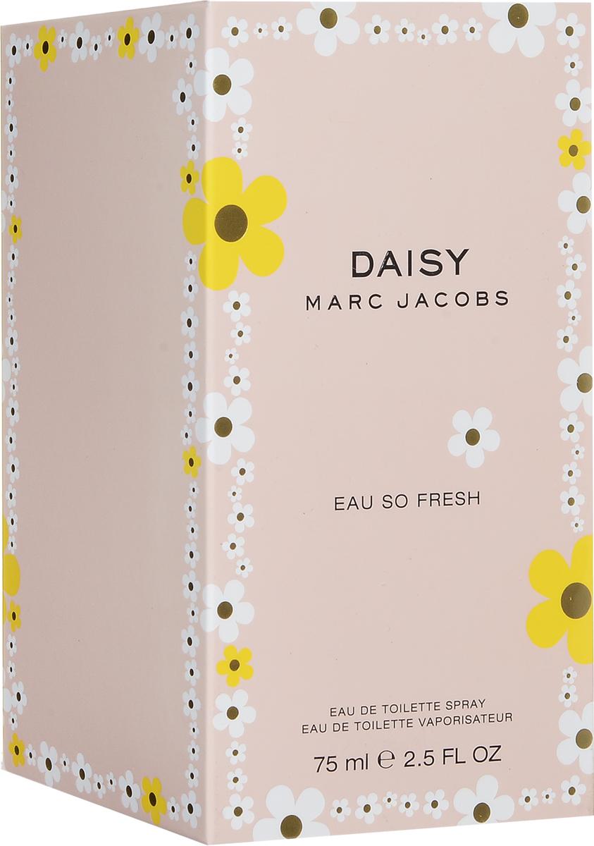 Marc Jacobs Daisy Eau So Fresh  Туалетная вода женская 75 мл58788202000Живой, чарующий, причудливый аромат DAISY EAU SO FRESH является смелой версией оригинального аромата DAISY. Он переносит Вас в счастливое и солнечное место, где все пропитано духом молодости, позитивной свежести и очаровательным чувством простоты. Игривый, с причудливым настроением - аромат свежей малины, чувственной дикой розы и теплой сливы. Утонченный, но не слишком серьезный, аромат DAISY EAU SO FRESH захватывает винтажной женственностью от Марка Джейкобса, а также смелым дизайном.Верхняя нота: красный грейпфрут, малина, зеленые листья, груша.Средняя нота: фиалка, дикая роза, цветки яблони, лепестки жасмина, личи.Шлейф: мускус, слива, кедр.Более спонтанная верчсия аромата Daisy, c аккордами розы и теплой сливы.Дневной и вечерний аромат.