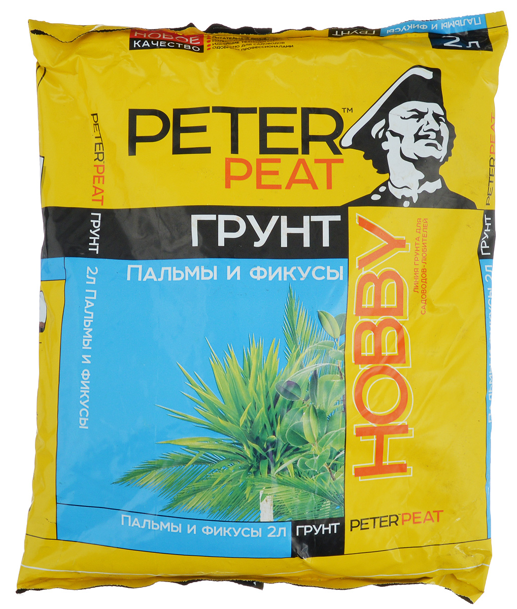 Грунт для растений Peter Peat Пальмы и фикусы, 2 л1984342Peter Peat Пальмы и фикусы - это готовый к применению питательный торфяной грунт. Грунт предназначен для выращивания пальм, фикусов, монстеры, юкки и других крупномерных растений. Способствует приживаемости растений и улучшает их декоративные качества.