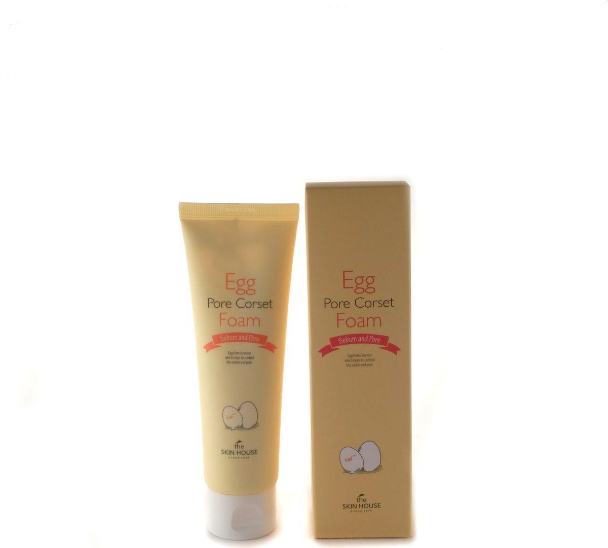 The Skin House Пенка для глубокого очищения и сужения пор, 120 мл10787Пенка с яичным экстрактом глубоко очищает и стягивает поры, разглаживая поверхность кожи, матирует, делает кожу более ровной, светлой и чистой. В условиях суровой городской экологии, наша кожа нуждается в систематическом тщательном очищении. Ее поры часто забиваются загрязнениями, водно-жировой баланс нарушается. Пенка с эффектом стягивания пор Egg Pore Corset Foam мягко вычистит загрязнения из глубины пор, предотвращая нарушения гидролипидного баланса, возникновение черных точек, а также матирует кожу и минимизирует поры. В пенке, помимо яичного экстракта, содержится экстракт чайного дерева, гамамелиса, центеллы азиатской, спирулины и алоэ вера. Алоэ вера успокаивает и увлажняет кожу, гамамелис разглаживает и обновляет, центелла азиатская питает, чайное дерево лечит акне и регулирует работу сальных желез, спирулина выводит из кожи загрязнения и следы тяжелых металлов, содержащихся в атмосферной пыли. В результате применения пенки, кожа очистится изнутри, разгладится, станет матовой и чистой, как фарфор.