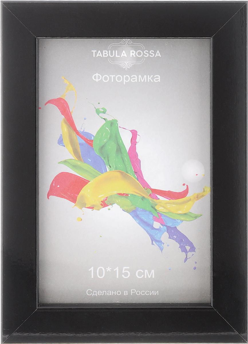 Фоторамка Tabula Rossa Глянец, цвет: черный, 10 х 15 смCHK-190Фоторамка Tabula Rossa Глянец выполнена в современном стиле из пластика, МДФ и стекла, защищающего фотографию. Оборотная сторона рамки оснащена 2 отверстиями для подвешивания и специальной ножкой, благодаря которой ее можно поставить на стол или любое другое место в доме или офисе. Такая фоторамка поможет вам оригинально и стильно дополнить интерьер помещения, а также позволит сохранить память о дорогих вам людях и интересных событиях вашей жизни.Размер фоторамки: 13 х 18 см.Подходит для фотографий размером: 10 х 15 см.