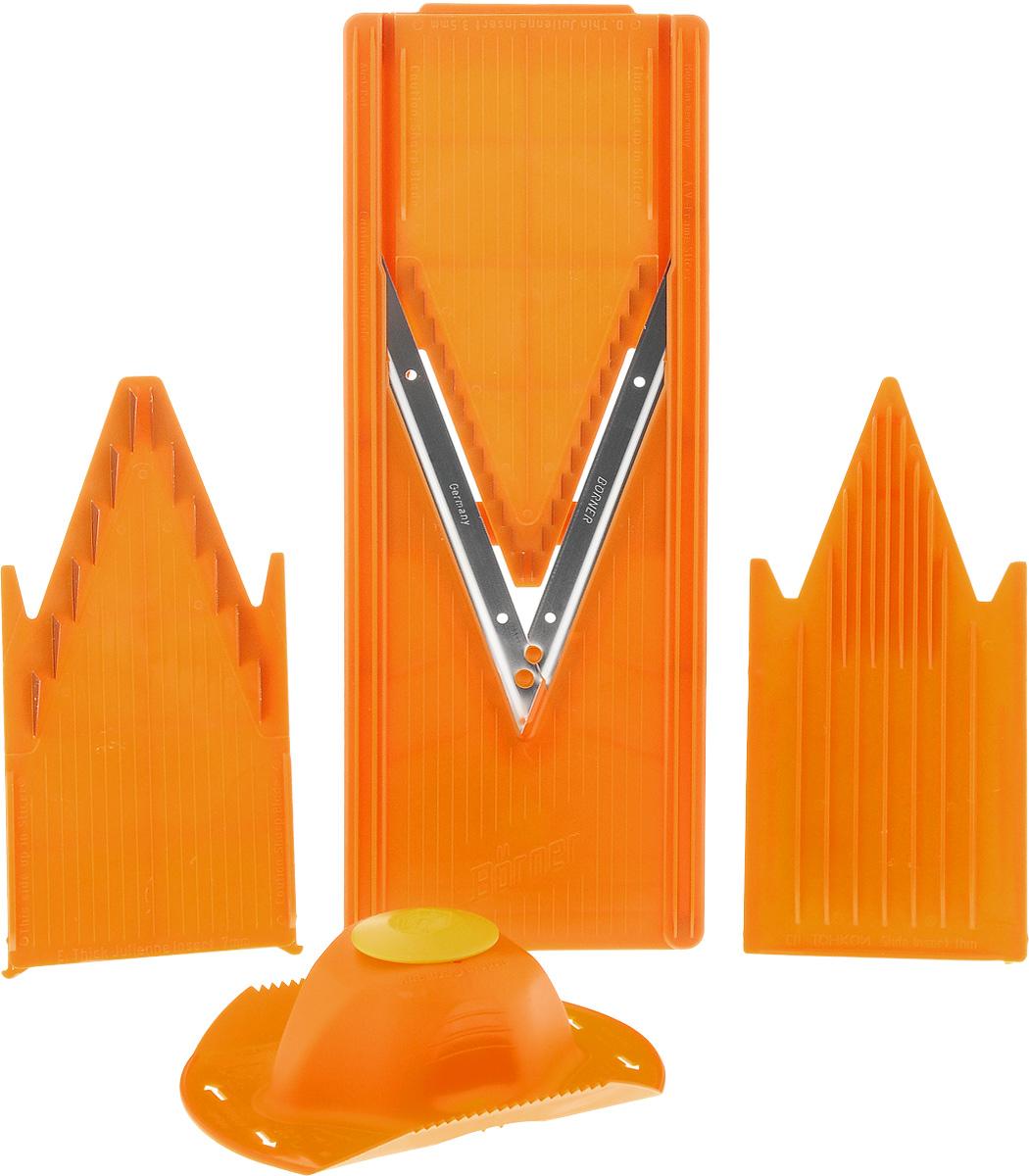 """Овощерезка Borner """"Classic"""", с плододержателем, цвет: оранжевый. 100-2"""