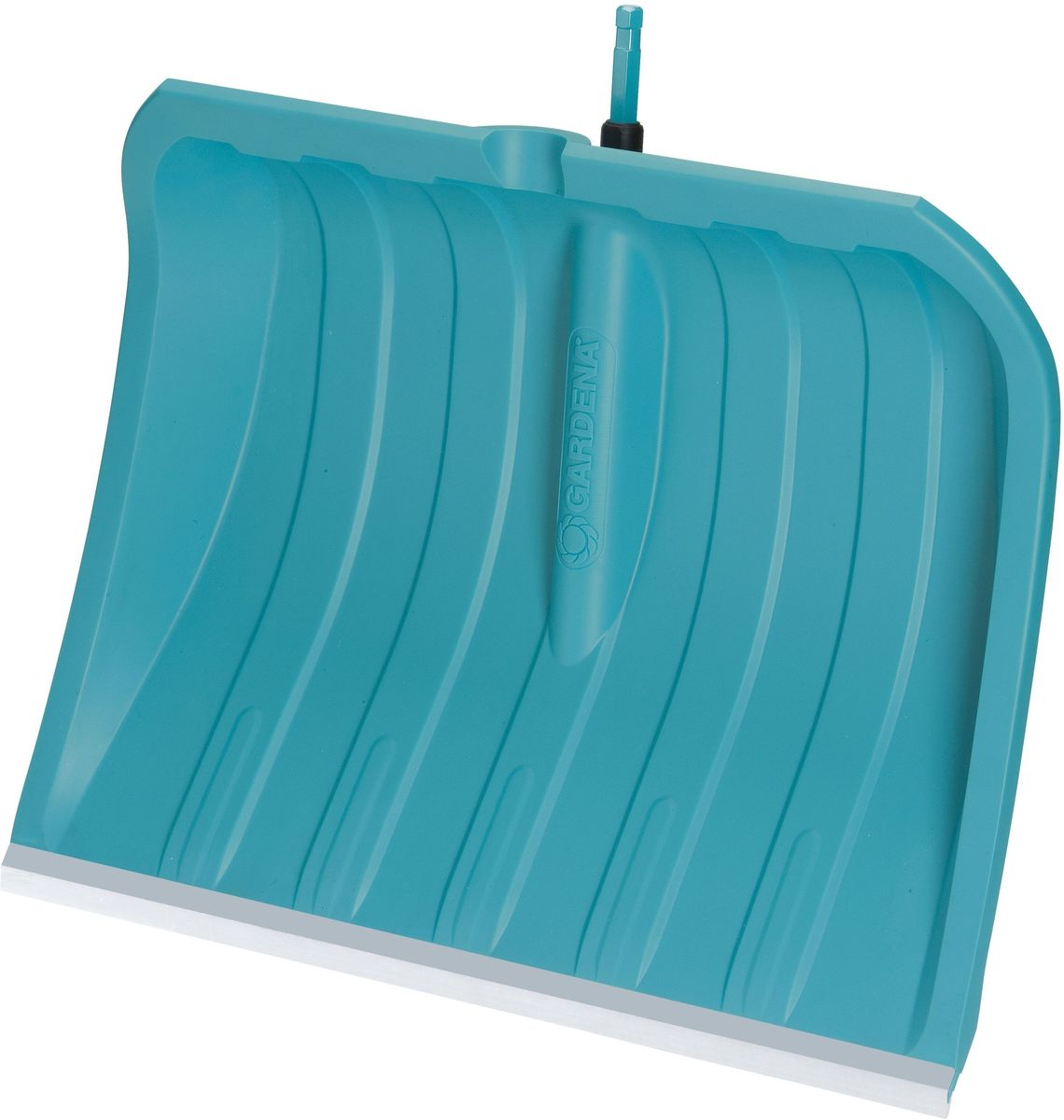Лопата для уборки снега Gardena, со съемной ручкой, ширина 50 смK100Лопата для уборки снега Gardena имеет особо прочную кромку из нержавеющей стали. Этим инструментом удобно очищать асфальтные и бетонные поверхности от снега. Полотно лопаты изготовлено из пластика и устойчиво к воздействию солей и низких температур до -40°. Более простая и комфортная работа за счет гладкой поверхности полотна - не налипает снег, улучшенное скольжение. Изделие оснащено съемной ручкой Gardena, выполненной из ясеня и алюминия. Конструкция ручки включает в себя стопорный винт, благодаря которому достигается надежная фиксация инструмента. Форма ручки в виде конуса облегчает использование ручки во время работы и предотвращает ее выскальзывание.Длина ручки: 150 см.Ширина рабочей части лопаты: 50 см.