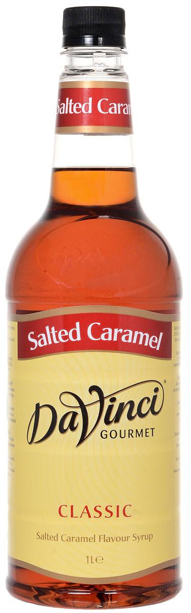 DaVinci Соленая карамель сироп, 1 л0120710Сироп DaVinci - роскошное безалкогольное дополнение к кофе или какому-либо другому напитку. Кроме кофе, сироп можно добавить в чай, мороженое, десерты, коктейли. Ваши напитки будут иметь мягкий насыщенный вкус. Хорошая смешиваемость. Будет иметь прекрасный вкус в сочетании с кофе, не перебивая или подавляя его сладостью. Вкус останется сильным и однородным и в горячих напитках. Сироп DaVinci пользуется большой популярностью во всем мире.Уважаемые клиенты! Обращаем ваше внимание, что полный перечень состава продукта представлен на дополнительном изображении.