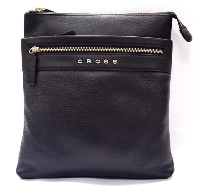 Сумка мужская Cross, цвет: коричневый. AC021114-28-2Сумка наплечная тонкая. Внешний карман на молнии. Задний карман на кнопке. Отделение для iPad. Одно отделение для документов.