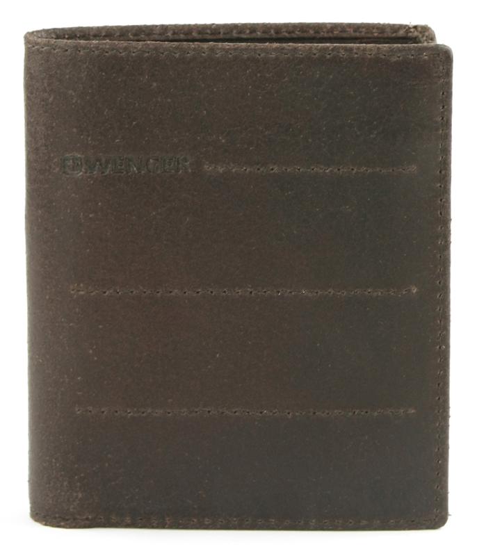 Портмоне мужское Wenger, цвет: темно-коричневый. W29-13BRBM8434-58AEПортмоне Wenger выполнено из натуральной кожи и оформлено тиснением с названием бренда. Внутри расположено два отделения для купюр, отделение для мелочи, сетчатый карман для пропуска и четыре отсека для документов. Также внутри находятся восемь карманов для хранения банковских и дисконтных карт.