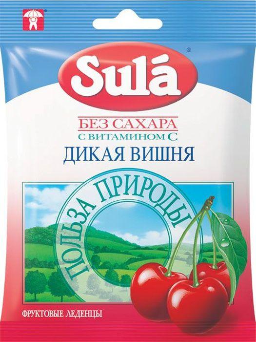 Sula Дикая вишня фруктовые леденцы, 60 г