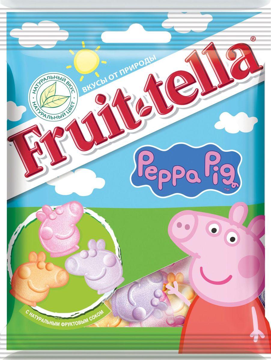 Fruittella Peppa Pig жевательный мармелад, 70 г0120710Сочные жевательные конфеты и мармелад Fruit-tella дарят детям и взрослым всю радугу цветов и вкусов: от апельсина и яблока до черной смородины и клубники! Они изготовлены по уникальной рецептуре с использованием только натуральных компонентов – фруктов, овощей и фруктовых соков!