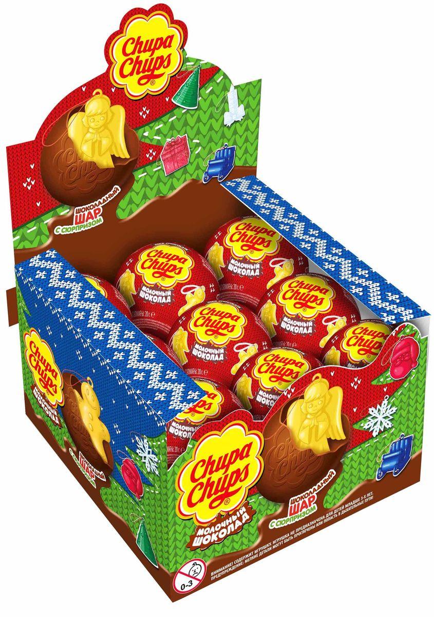 Chupa Chups Новый год молочный шоколад, 18 штук по 20 г609100, 4008821Внутри каждого шоколадного шара Chupa Chups вы найдете новую игрушку, а снаружи - именно такой шоколад, как вы любите. Какая игрушка попадется в этот раз??? Соберите всю коллекцию и обменивайтесь с друзьями!