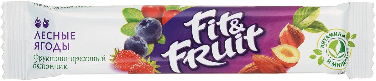 Fit&Fruit Фруктово-ореховый батончик со вкусом лесных ягод, 40 г