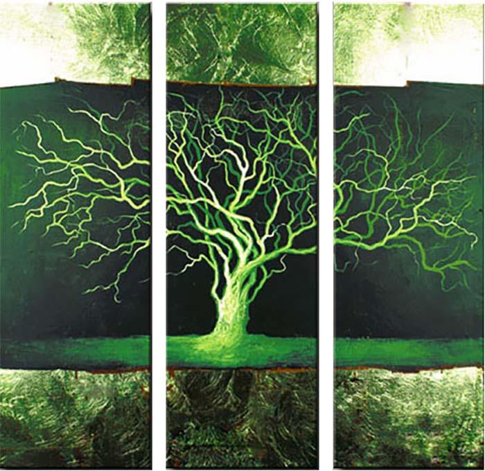 Картина Арт78 Дерево в негативе, модульная, 80 см х 80 см. арт780002-3RG-D31SНичто так не облагораживает интерьер, как хорошая картина. Особенную атмосферу создаст крупное художественное полотно, размеры которого более метра. Подобные произведения искусства, выполненные в традиционной технике (холст, масляные краски), чрезвычайно капризны: требуют сложного ухода, регулярной реставрации, особого микроклимата – поэтому они просто не могут существовать в условиях обычной городской квартиры или загородного коттеджа, и требуют больших затрат. Данное полотно идеально приспособлено для создания изысканной обстановки именно у Вас. Это полотно создано с использованием как традиционных натуральных материалов (холст, подрамник - сосна), так и материалов нового поколения – краски, фактурный гель (придающий картине внешний вид масляной живописи, и защищающий ее от внешнего воздействия). Благодаря такой композиции, картина выглядит абсолютно естественно, и отличить ее от традиционной техники может только специалист. Но при этом изображение отлично смотрится с любого расстояния, под любым углом и при любом освещении. Картина не выцветает, хорошо переносит даже повышенный уровень влажности. При необходимости ее можно протереть сухой салфеткой из мягкой ткани.