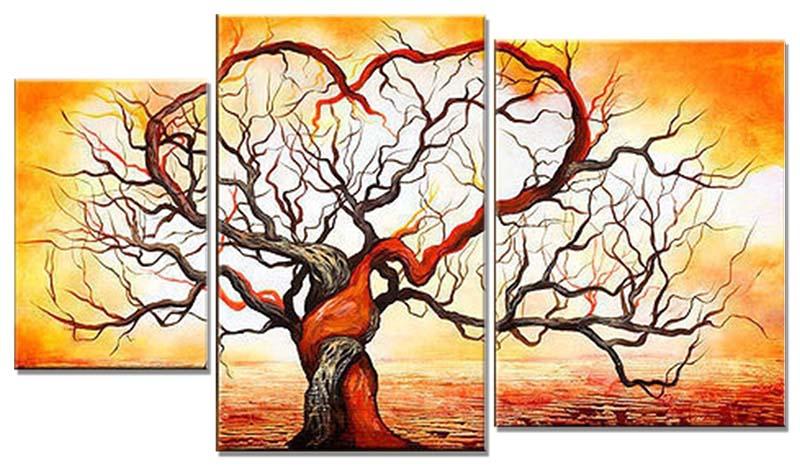 Картина Арт78 Деревья, модульная, 100 см х 60 см. арт780006-3PM-5003Ничто так не облагораживает интерьер, как хорошая картина. Особенную атмосферу создаст крупное художественное полотно, размеры которого более метра. Подобные произведения искусства, выполненные в традиционной технике (холст, масляные краски), чрезвычайно капризны: требуют сложного ухода, регулярной реставрации, особого микроклимата – поэтому они просто не могут существовать в условиях обычной городской квартиры или загородного коттеджа, и требуют больших затрат. Данное полотно идеально приспособлено для создания изысканной обстановки именно у Вас. Это полотно создано с использованием как традиционных натуральных материалов (холст, подрамник - сосна), так и материалов нового поколения – краски, фактурный гель (придающий картине внешний вид масляной живописи, и защищающий ее от внешнего воздействия). Благодаря такой композиции, картина выглядит абсолютно естественно, и отличить ее от традиционной техники может только специалист. Но при этом изображение отлично смотрится с любого расстояния, под любым углом и при любом освещении. Картина не выцветает, хорошо переносит даже повышенный уровень влажности. При необходимости ее можно протереть сухой салфеткой из мягкой ткани.