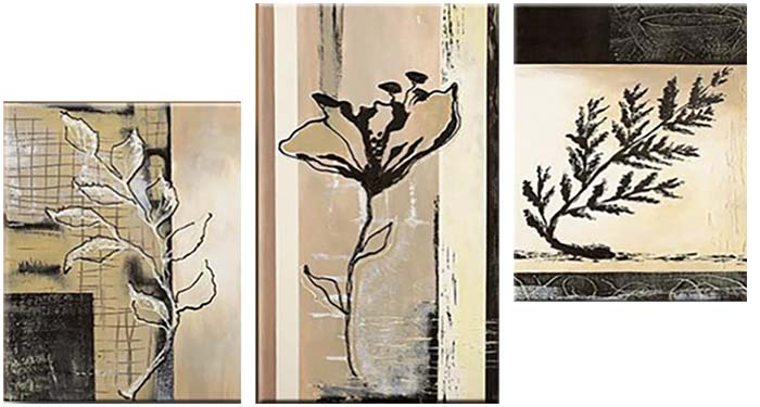 Картина Арт78 Растения, модульная, 180 см х 110 см. арт780024SA-3004Ничто так не облагораживает интерьер, как хорошая картина. Особенную атмосферу создаст крупное художественное полотно, размеры которого более метра. Подобные произведения искусства, выполненные в традиционной технике (холст, масляные краски), чрезвычайно капризны: требуют сложного ухода, регулярной реставрации, особого микроклимата – поэтому они просто не могут существовать в условиях обычной городской квартиры или загородного коттеджа, и требуют больших затрат. Данное полотно идеально приспособлено для создания изысканной обстановки именно у Вас. Это полотно создано с использованием как традиционных натуральных материалов (холст, подрамник - сосна), так и материалов нового поколения – краски, фактурный гель (придающий картине внешний вид масляной живописи, и защищающий ее от внешнего воздействия). Благодаря такой композиции, картина выглядит абсолютно естественно, и отличить ее от традиционной техники может только специалист. Но при этом изображение отлично смотрится с любого расстояния, под любым углом и при любом освещении. Картина не выцветает, хорошо переносит даже повышенный уровень влажности. При необходимости ее можно протереть сухой салфеткой из мягкой ткани.
