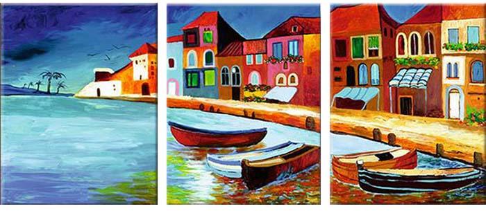 Картина Арт78 Венеция, модульная, 120 см х 60 см. арт780030-2арт780024-3Ничто так не облагораживает интерьер, как хорошая картина. Особенную атмосферу создаст крупное художественное полотно, размеры которого более метра. Подобные произведения искусства, выполненные в традиционной технике (холст, масляные краски), чрезвычайно капризны: требуют сложного ухода, регулярной реставрации, особого микроклимата – поэтому они просто не могут существовать в условиях обычной городской квартиры или загородного коттеджа, и требуют больших затрат. Данное полотно идеально приспособлено для создания изысканной обстановки именно у Вас. Это полотно создано с использованием как традиционных натуральных материалов (холст, подрамник - сосна), так и материалов нового поколения – краски, фактурный гель (придающий картине внешний вид масляной живописи, и защищающий ее от внешнего воздействия). Благодаря такой композиции, картина выглядит абсолютно естественно, и отличить ее от традиционной техники может только специалист. Но при этом изображение отлично смотрится с любого расстояния, под любым углом и при любом освещении. Картина не выцветает, хорошо переносит даже повышенный уровень влажности. При необходимости ее можно протереть сухой салфеткой из мягкой ткани.