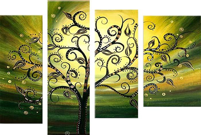 Картина Арт78 Одинокое дерево, модульная, 180 см х 120 см. арт780032PM-4015Ничто так не облагораживает интерьер, как хорошая картина. Особенную атмосферу создаст крупное художественное полотно, размеры которого более метра. Подобные произведения искусства, выполненные в традиционной технике (холст, масляные краски), чрезвычайно капризны: требуют сложного ухода, регулярной реставрации, особого микроклимата – поэтому они просто не могут существовать в условиях обычной городской квартиры или загородного коттеджа, и требуют больших затрат. Данное полотно идеально приспособлено для создания изысканной обстановки именно у Вас. Это полотно создано с использованием как традиционных натуральных материалов (холст, подрамник - сосна), так и материалов нового поколения – краски, фактурный гель (придающий картине внешний вид масляной живописи, и защищающий ее от внешнего воздействия). Благодаря такой композиции, картина выглядит абсолютно естественно, и отличить ее от традиционной техники может только специалист. Но при этом изображение отлично смотрится с любого расстояния, под любым углом и при любом освещении. Картина не выцветает, хорошо переносит даже повышенный уровень влажности. При необходимости ее можно протереть сухой салфеткой из мягкой ткани.