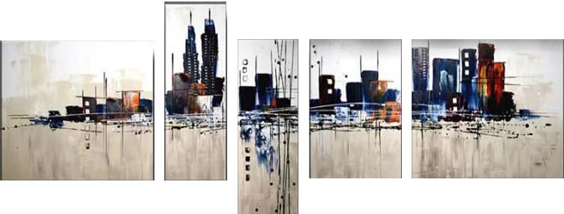 Картина Арт78 Город, модульная, 200 см х 120 см. арт780034AL-022Ничто так не облагораживает интерьер, как хорошая картина. Особенную атмосферу создаст крупное художественное полотно, размеры которого более метра. Подобные произведения искусства, выполненные в традиционной технике (холст, масляные краски), чрезвычайно капризны: требуют сложного ухода, регулярной реставрации, особого микроклимата – поэтому они просто не могут существовать в условиях обычной городской квартиры или загородного коттеджа, и требуют больших затрат. Данное полотно идеально приспособлено для создания изысканной обстановки именно у Вас. Это полотно создано с использованием как традиционных натуральных материалов (холст, подрамник - сосна), так и материалов нового поколения – краски, фактурный гель (придающий картине внешний вид масляной живописи, и защищающий ее от внешнего воздействия). Благодаря такой композиции, картина выглядит абсолютно естественно, и отличить ее от традиционной техники может только специалист. Но при этом изображение отлично смотрится с любого расстояния, под любым углом и при любом освещении. Картина не выцветает, хорошо переносит даже повышенный уровень влажности. При необходимости ее можно протереть сухой салфеткой из мягкой ткани.