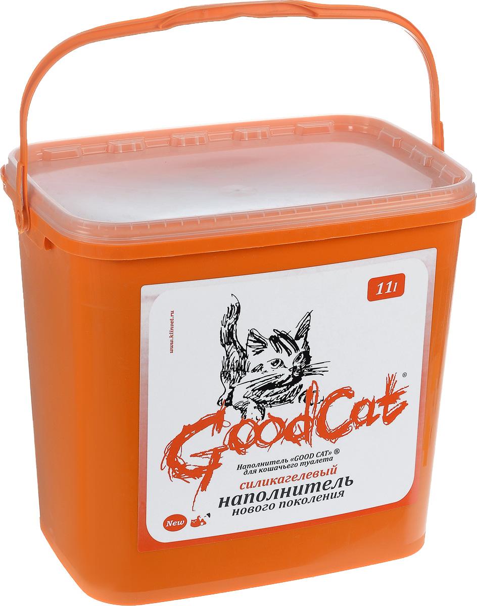 Наполнитель для кошачьего туалета GoodСat, силикагелевый, 11 л00000000107Силикагелевый наполнитель GoodCat - это уникальный продукт на рынке наполнителей для кошачьих туалетов. Основной его компонент - оксид кремния, поэтому он не растворяется в воде, не обладает собственным запахом и не содержит пыли, способной вызвать аллергию у людей и животных. Сильная адсорбирующая способность силикагелевой основы наполнителя позволяет получить огромный коэффициент влагопоглощения. При этом наполнитель благодаря своей пористой структуре не размокает под действием влаги, а впитывает ее таким образом, что его поверхность остается сухой. Кроме влаги наполнитель способен поглощать практически все бактерии, а также молекулы, создающие неприятный запах. Это свойство наполнителя купировать запахи, бактерицидный эффект, а также способность поверхностного слоя наполнителя оставаться сухим, особенно важны в тех случаях, когда лоток используется несколькими животными. Дополнительное достоинство наполнителя - его можно использовать повторно. Одного ведра наполнителя емкостью 11 литров достаточно одной кошке на четыре месяца.Состав: Силикагель.Товар сертифицирован.