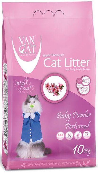 Наполнитель для кошачьих туалетов Van Cat, комкующийся, без пыли, с ароматом детской присыпки, 10 кг0120710Наполнитель для кошачьего туалета Van Cat эффективно удерживает запах, а специальный ароматизатор подарит вашему дому приятный аромат детской присыпки. Подходит для кошек, которые чувствительны или аллергичны к запахам. Обладает высокой абсорбцией, отлично комкуется, не пылит, лапы остаются чистыми.Не прилипает к лапам и шерсти. Не содержит химических примесей. Безопасен для животных и окружающей среды. Сохраняет лоток сухим, прост в уборке. Размер гранул: 0,6-2,25 мм. Товар сертифицирован.