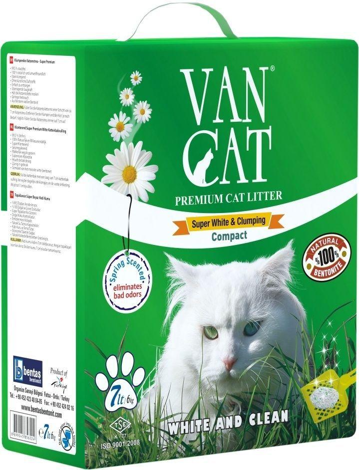 Наполнитель для кошачьих туалетов Van Cat Идеальные комочки, комкующийся, 7 л0120710100% натуральныйБелый цвет – символ чистоты и свежести. Так же белый цвет – это символ здоровья. Как нам контролировать здоровье мочевыделительной системы у кошки наиболее простым способом? Только белый наполнитель для кошачьего туалета дает нам такую возможность. Отлично комкуется Гранулы 0,6-2,25 мм Эффективно устраняет неприятные запахи Не пылит, лапы остаются чистыми Способность к абсорбации 300% Безопасен для животных и окружающей среды Экономичен в использовании Сохраняет лоток сухим, прост в уборкеУдобная картонная упаковка
