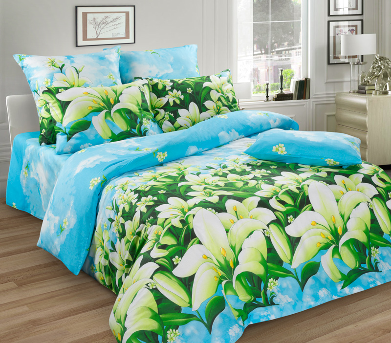 Комплект белья Guten Morgen Лилии, семейный, наволочки 70х70FA-5125 WhiteКомплект постельного белья Guten Morgen Лилии, изготовленный из бязи (100% хлопка), являющейся экологически чистым продуктом, поможет вам расслабиться и подарит спокойный сон. Комплект состоит из двух пододеяльников, простыни и двух наволочек. Предметы комплекта оформлены цветочным принтом. Постельное белье имеет и привлекающий внешний вид и обладает яркими, сочными цветами. Благодаря такому комплекту постельного белья вы сможете создать атмосферу уюта и комфорта в вашей спальне.