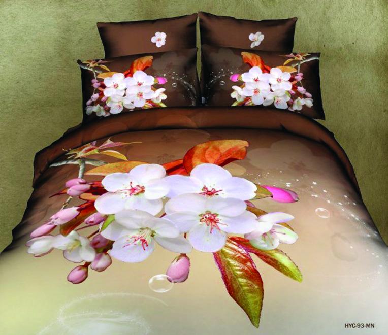 Комплект белья Guten Morgen Цветы, 2-спальный, наволочки 70х70391602Комплект постельного белья Guten Morgen Цветы, изготовленный из сатина (100% хлопка), являющегося экологически чистым продуктом, поможет вам расслабиться и подарит спокойный сон. Комплект состоит из пододеяльника, простыни и двух наволочек. Предметы комплекта оформлены цветочным принтом. Постельное белье имеет и привлекающий внешний вид и обладает яркими, сочными цветами. Благодаря такому комплекту постельного белья вы сможете создать атмосферу уюта и комфорта в вашей спальне.