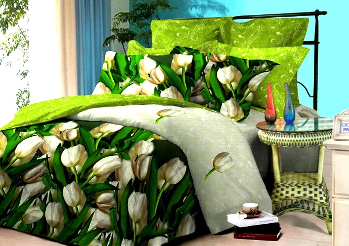 Комплект белья Guten Morgen, семейный, наволочки 70х70. С-748-143-240-7041/011-BLКомплект постельного белья Guten Morgen, изготовленный из поплина (100% хлопка), являющегося экологически чистым продуктом, поможет вам расслабиться и подарит спокойный сон. Комплект состоит из двух пододеяльников, простыни и двух наволочек.Благодаря такому комплекту постельного белья вы сможете создать атмосферу уюта и комфорта в вашей спальне.