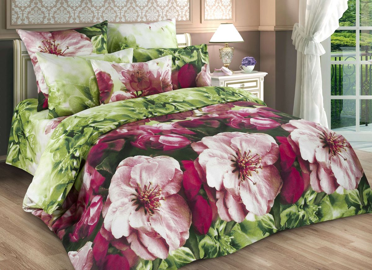 Комплект белья Guten Morgen Весенние цветы, семейный, наволочки 70х70391602Комплект постельного белья Guten Morgen Весенние цветы, изготовленный из бязи (100% хлопка), являющейся экологически чистым продуктом, поможет вам расслабиться и подарит спокойный сон. Комплект состоит из двух пододеяльников, простыни и двух наволочек. Предметы комплекта оформлены цветочным принтом. Постельное белье имеет и привлекающий внешний вид и обладает яркими, сочными цветами. Благодаря такому комплекту постельного белья вы сможете создать атмосферу уюта и комфорта в вашей спальне.