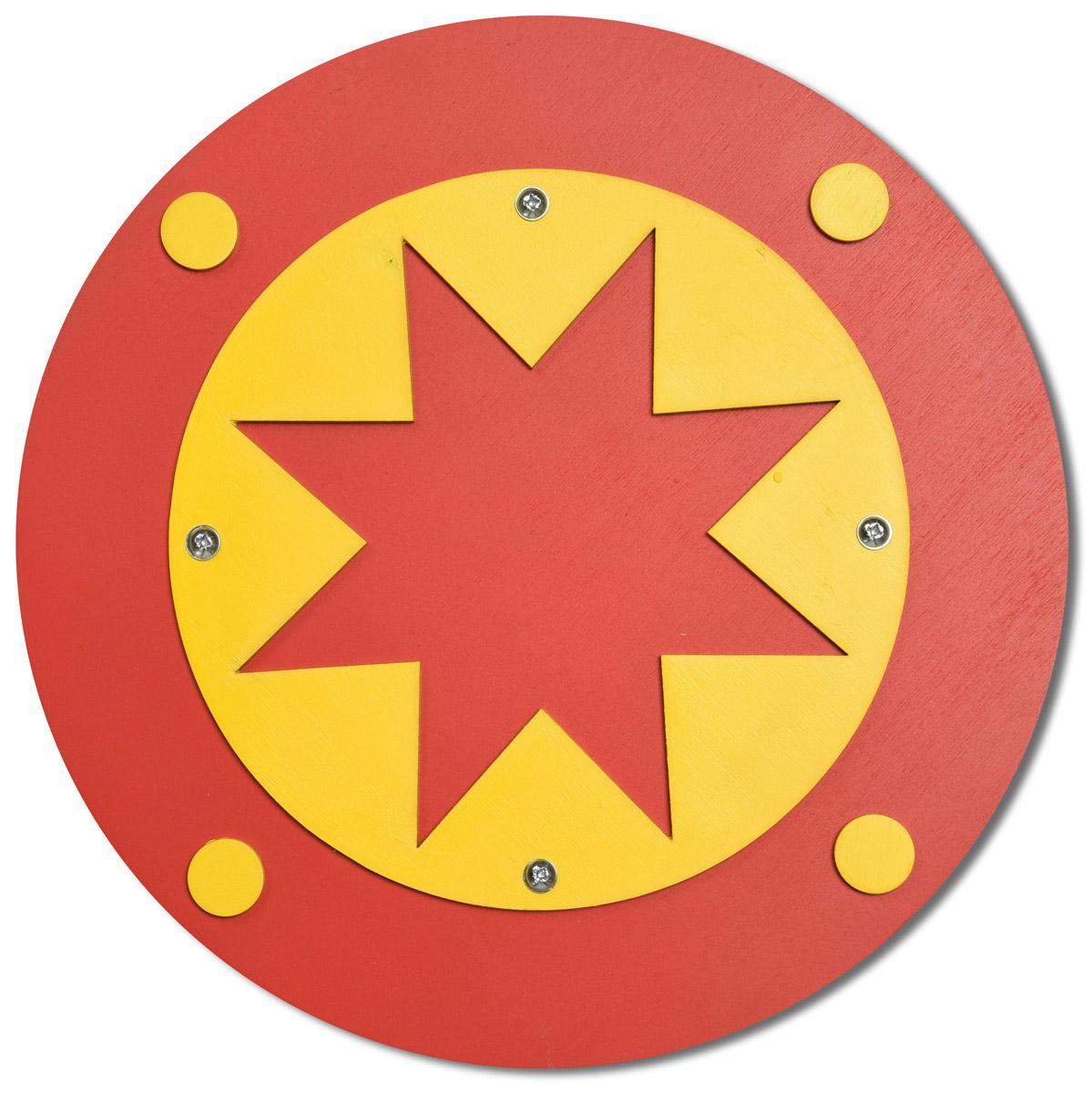 Три богатыря Щит цвет красный желтый - Игрушечное оружие