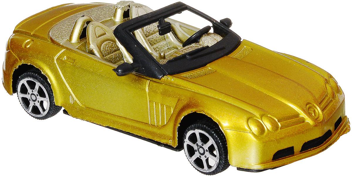 Junfa Toys Кабриолет инерционный цвет желтый