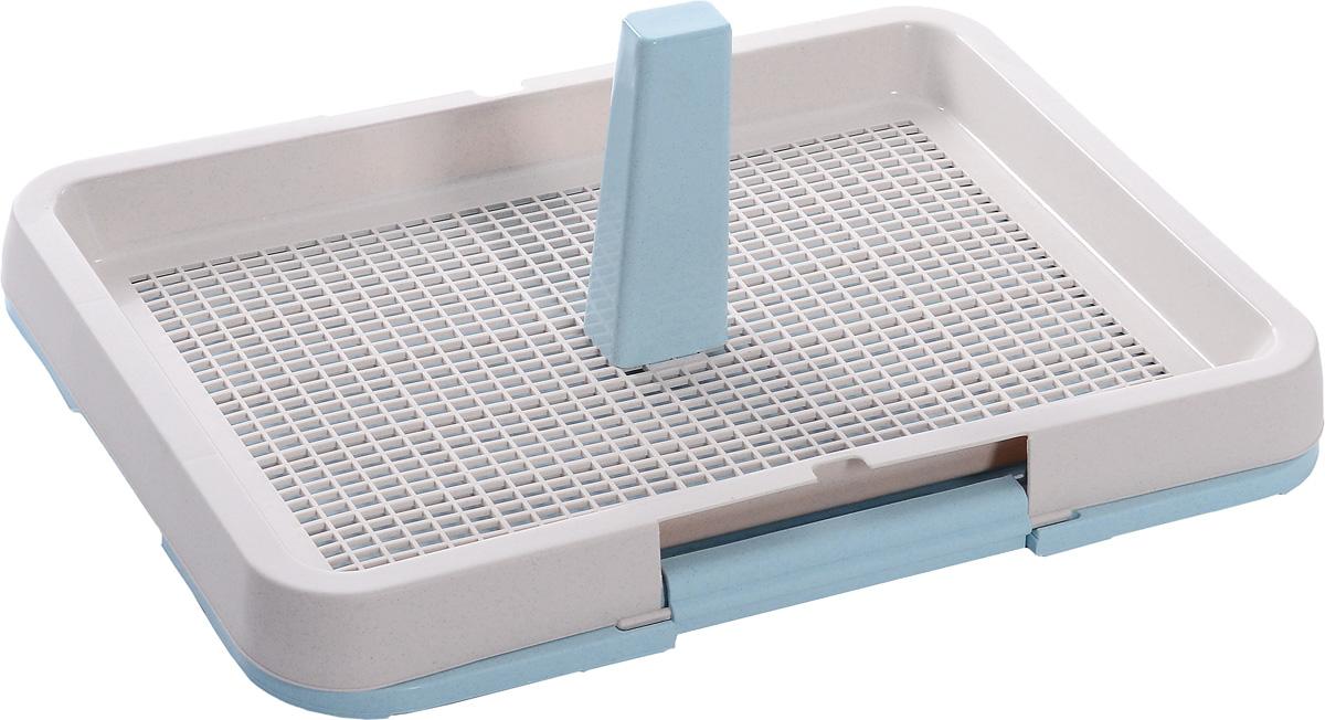 Туалет для собак OUT!, с фиксатором, со столбиком, цвет: розовый, голубой, 63 х 48 х 7 см карабинов вепрь 7 62 х 63 отзывы купить