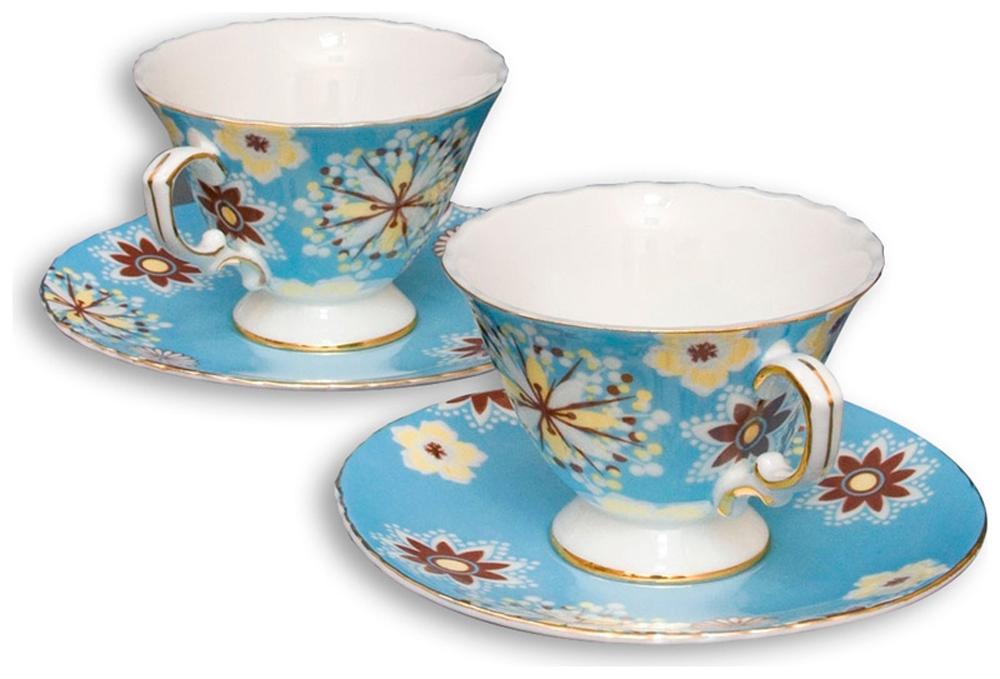 Набор чайный Pavone Антонелла, цвет: голубой, 4 предметаVT-1520(SR)Чайный набор Pavone Антонелла, выполненный из высококачественного фарфора, состоит из 2 чашек и 2 блюдец. Предметы набора декорированы изображением цветов. Изделия прекрасно подойдут как для повседневного использования, так и для праздников. Набор Pavone Антонелла - это не только яркий и полезный подарок для родных и близких, но и великолепное дизайнерское решение для вашей кухни или столовой. Объем чашки: 200 мл. Высота чашки: 8 см. Диаметр блюдца: 16 см.