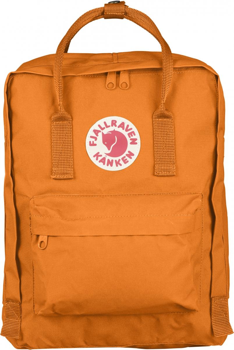 Рюкзак Fjallraven Kanken, цвет: оранжевый, 16 л23510-212Легендарный рюкзак от шведского бренда Fjallraven, изготовлен из прочного и легкого материала Vinylon F обладающего исключительной долговечностью и полной водонепроницаемостью. При контакте с водой, волокна Vinylon F разбухают, не позволяя влаге проникнуть внутрь. С наружи изделия расположен большой фронтальный карман на молнии и еще 2 кармана по бокам. Рюкзак оснащен регулирующимисяпо длине лямками, а светоотражающая нашивка с фирменным логотипом выделяет владельца в тёмное время суток.В основе выпускаемых фирмой изделий - любовь человека к свободе ощущений. Благодаря оптимальной конструкции и минимальному весу рюкзак станет не заменимым аксессуаром.