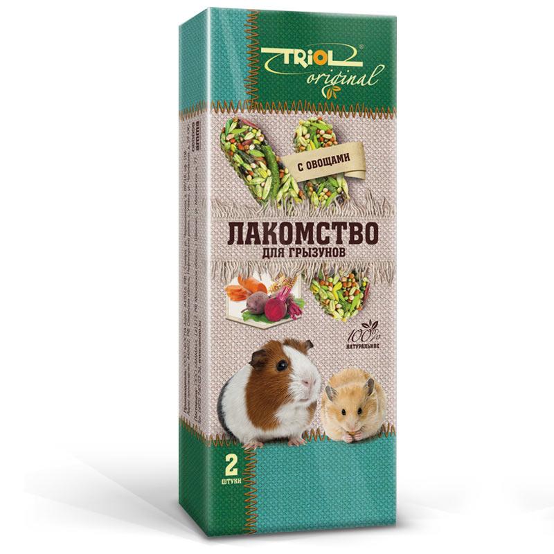 Лакомство для грызунов Triol Original, с овощами, 2 шт0120710Корма и лакомства Triol Original содержат только натуральные ингредиенты и изготовлены из отборного зерна. Оригинальная рецептура учитывает пещевые потребности вашего пернатого питомца. Сбалансированный и разнообразный состав не только удовлетворяет вкусовым предпочтениям, но и укрепляет здоровье.