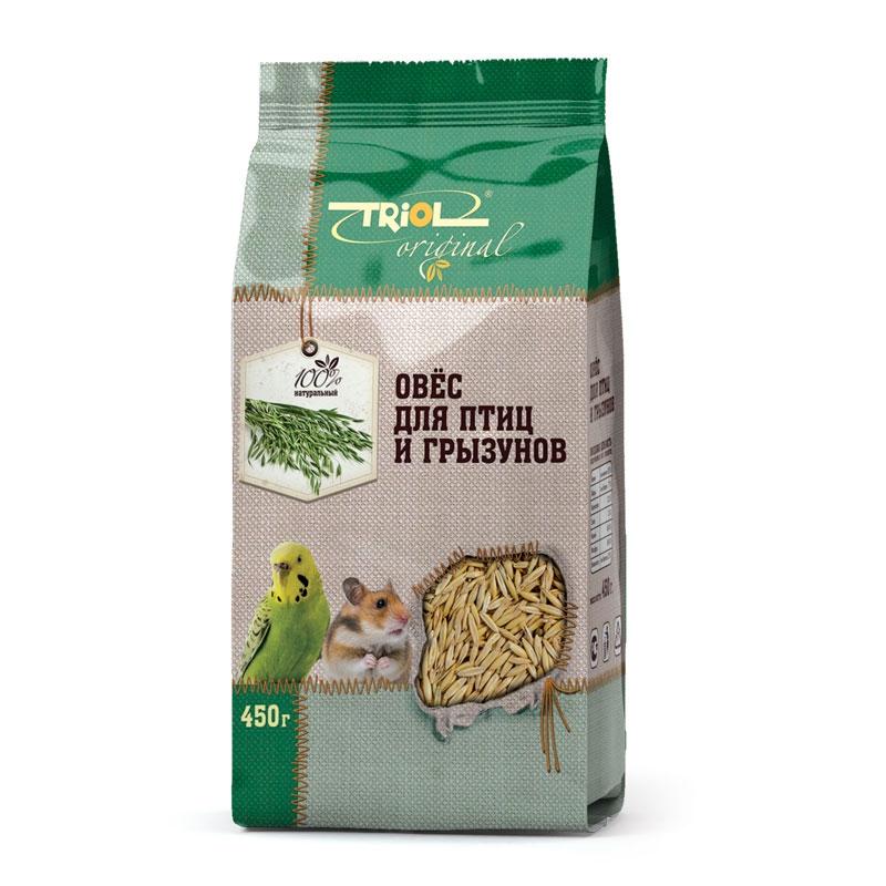 Корм Triol Original. Овес, для птиц и грызунов, 450 г0120710Корма и лакомства Triol Original содержат только натуральные ингредиенты и изготовлены из отборного зерна. Оригинальная рецептура учитывает пещевые потребности вашего пернатого питомца. Сбалансированный и разнообразный состав не только удовлетворяет вкусовым предпочтениям, но и укрепляет здоровье. Изготовлено из отборных зёрен овса.