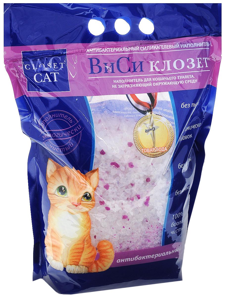 Наполнитель для кошачьего туалета ВиСи клозет, силикагелевый, антибактериальный, 3,8 л oliver twist