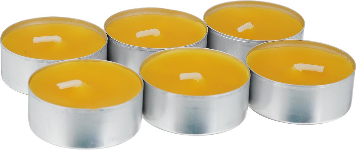 Свеча ароматическая чайная Bolsius Манго, 6 шт74-0120Свеча ароматическая Bolsius Манго создаст в доме атмосферу тепла и уюта. Чайная свеча в металлической подставке приятно смотрится в интерьере, она безопасна и удобна в использовании. Свеча создаст приятное мерцание, а сладкий манящий аромат окутает вас и подарит приятные ощущения.Время горения: 4 ч.