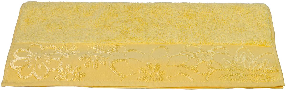 Полотенце Hobby Home Collection Dora, цвет: желтый, 100 х 150 смУП-005-03Полотенце Hobby Home Collection Dora выполнено из 100% хлопка. Изделие отлично впитывает влагу, быстро сохнет, сохраняет яркость цвета и не теряет форму даже после многократных стирок. Такое полотенце очень практично и неприхотливо в уходе. А простой, но стильный дизайн полотенца позволит ему вписаться даже в классический интерьер ванной комнаты.