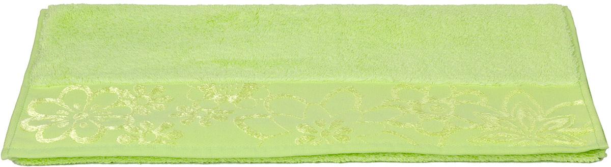Полотенце Hobby Home Collection Dora, цвет: зеленый, 50 х 90 см68/5/1Полотенце Hobby Home Collection Dora выполнено из 100% хлопка. Изделие отлично впитывает влагу, быстро сохнет, сохраняет яркость цвета и не теряет форму даже после многократных стирок. Такое полотенце очень практично и неприхотливо в уходе. А простой, но стильный дизайн полотенца позволит ему вписаться даже в классический интерьер ванной комнаты.