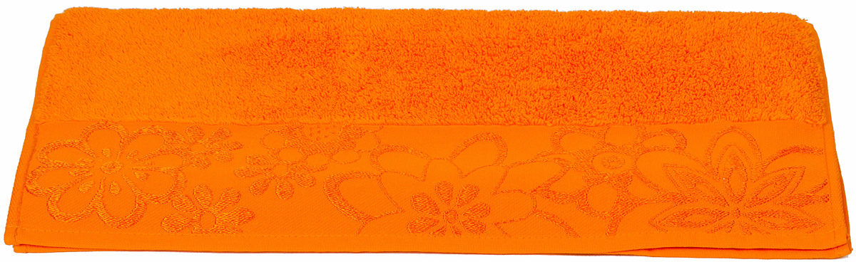 Полотенце Hobby Home Collection Dora, цвет: оранжевый, 50 х 90 см531-105Полотенце Hobby Home Collection Dora выполнено из 100% хлопка. Изделие отлично впитывает влагу, быстро сохнет, сохраняет яркость цвета и не теряет форму даже после многократных стирок. Такое полотенце очень практично и неприхотливо в уходе. А простой, но стильный дизайн полотенца позволит ему вписаться даже в классический интерьер ванной комнаты.