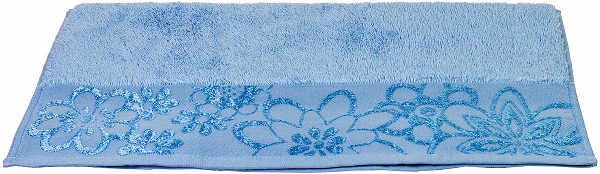 Полотенце Hobby Home Collection Dora, цвет: светло-голубой, 50 х 90 см391602Полотенце Hobby Home Collection Dora выполнено из 100% хлопка. Изделие отлично впитывает влагу, быстро сохнет, сохраняет яркость цвета и не теряет форму даже после многократных стирок. Такое полотенце очень практично и неприхотливо в уходе. А простой, но стильный дизайн полотенца позволит ему вписаться даже в классический интерьер ванной комнаты.