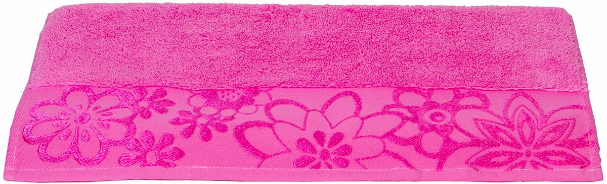 Полотенце Hobby Home Collection Dora, цвет: темно-розовый, 50 х 90 см1004900000360Полотенце Hobby Home Collection Dora выполнено из 100% хлопка. Изделие отлично впитывает влагу, быстро сохнет, сохраняет яркость цвета и не теряет форму даже после многократных стирок. Такое полотенце очень практично и неприхотливо в уходе. А простой, но стильный дизайн полотенца позволит ему вписаться даже в классический интерьер ванной комнаты.