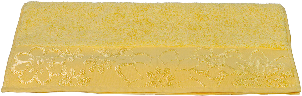 Полотенце Hobby Home Collection Dora, цвет: желтый, 70 х 140 смC0042416Полотенце Hobby Home Collection Dora выполнено из 100% хлопка. Изделие отлично впитывает влагу, быстро сохнет, сохраняет яркость цвета и не теряет форму даже после многократных стирок. Такое полотенце очень практично и неприхотливо в уходе. А простой, но стильный дизайн полотенца позволит ему вписаться даже в классический интерьер ванной комнаты.