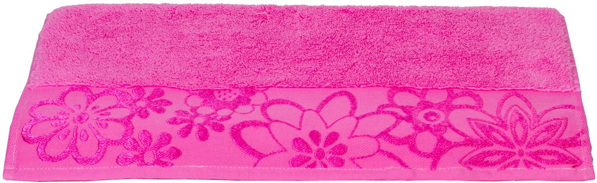 Полотенце Hobby Home Collection Dora, цвет: темно-розовый, 70 х 140 см531-105Полотенце Hobby Home Collection Dora выполнено из 100% хлопка. Изделие отлично впитывает влагу, быстро сохнет, сохраняет яркость цвета и не теряет форму даже после многократных стирок. Такое полотенце очень практично и неприхотливо в уходе. А простой, но стильный дизайн полотенца позволит ему вписаться даже в классический интерьер ванной комнаты.