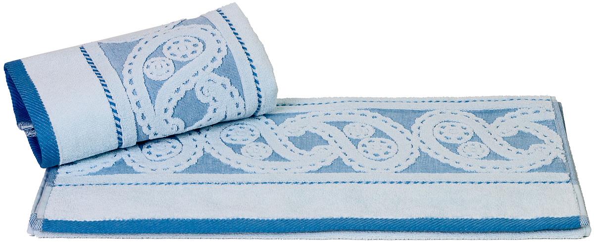 Полотенце Hobby Home Collection Hurrem, цвет: голубой, 50х90 см68/5/1Полотенце Hobby Home Collection Hurrem выполнено из 100% хлопка. Изделие отлично впитывает влагу, быстро сохнет, сохраняет яркость цвета и не теряет форму даже после многократных стирок. Такое полотенце очень практично и неприхотливо в уходе. А простой, но стильный дизайн полотенца позволит ему вписаться даже в классический интерьер ванной комнаты.
